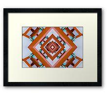 Orange and Blue Pagoda Framed Print