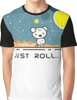 Bear Droid - Under the Galaxy Stars Graphic T-Shirt