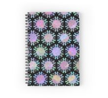 Melted Ice Cream Popsicle Black Symmetry Pattern Spiral Notebook