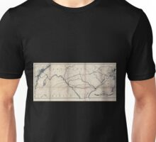 0185 Railroad Maps Map showing the coal timber lands of the Allegheny Rail Road Coal Company with the avenues to Unisex T-Shirt