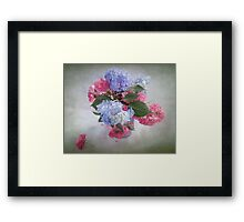 Endless Summer Hydrangeas and Roses Still Life Framed Print