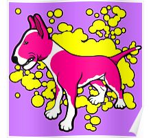 EBT Pink and White Paint Splash Poster