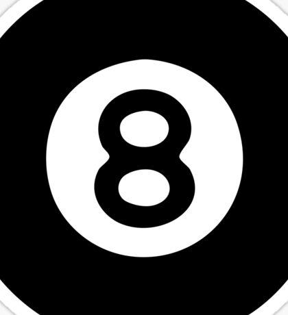 8Ball Billiard Icon Sticker