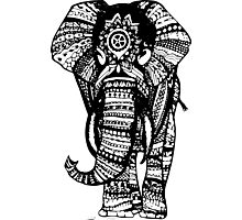 Mandala Elefant  Photographic Print
