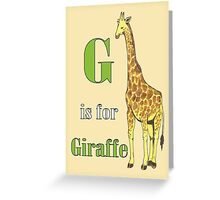 G is for Giraffe Greeting Card