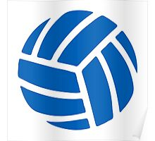 Volleyball Shape Icon Poster