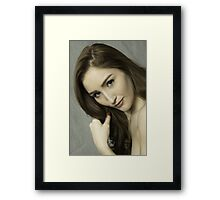 Gorgeous young beautiful woman   Framed Print