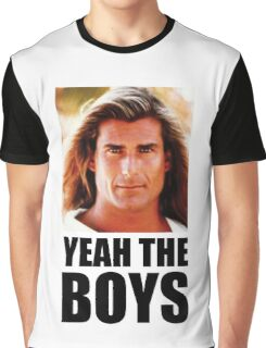 Yeah the boys - White Graphic T-Shirt