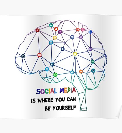Be Yourself in Social Media Poster