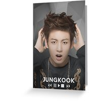 Jungkook~BTS Greeting Card