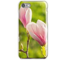 magnolia flowers on a blury background iPhone Case/Skin