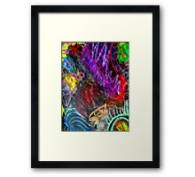 Chaos Colorized Framed Print