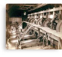 Clean Up day at the Deadwood Terra Gold Stamp Mill - John Grabill - 1888 Canvas Print