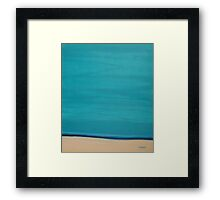 Calm beach. Framed Print