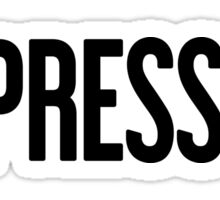 No Pressure - Justin Bieber Sticker