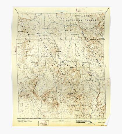 USGS TOPO Map Arizona AZ Prescott 315585 1892 250000 Poster