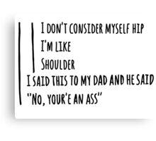 Funny Dad Jokes- Tumblr Post Canvas Print