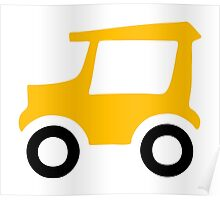 Golf Cart Icon Poster