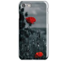 big fresh poppies in the field iPhone Case/Skin