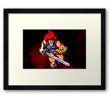 Thunder Lion Framed Print