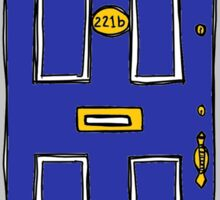 221b Baker Street Door (Sherlock) - Blue Sticker