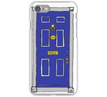 221b Baker Street Door (Sherlock) - Blue iPhone Case/Skin