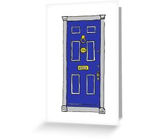221b Baker Street Door (Sherlock) - Blue Greeting Card