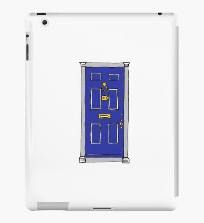 221b Baker Street Door (Sherlock) - Blue iPad Case/Skin