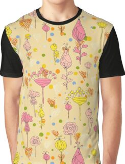Floral pattern with hearts Graphic T-Shirt