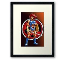 Super Lion Sword Framed Print