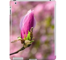 magnolia flowers on a blury background iPad Case/Skin