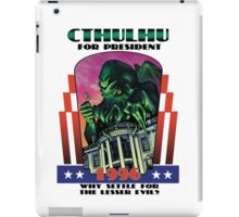 Retro CTHULHU FOR PRESIDENT 1996 Campaign iPad Case/Skin