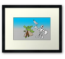 Yoda and Stormtrooper by Harry Framed Print