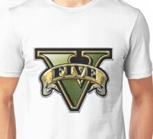 GRAND THEFT AUTO V - GOLDEN LOGO Unisex T-Shirt