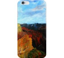 Arizona Desert Landscape Acrylics On Canvas Board iPhone Case/Skin