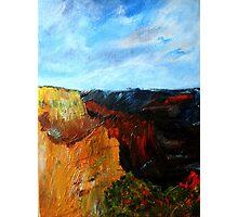 Arizona Desert Landscape Acrylics On Canvas Board Photographic Print