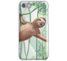 Sweet Sloth and Butterflies iPhone Case/Skin