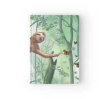 Sweet Sloth and Butterflies Hardcover Journal