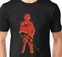 red dent texture illusion the rock legend with guitar Unisex T-Shirt