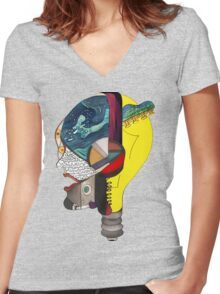 Audiophile Women's Fitted V-Neck T-Shirt