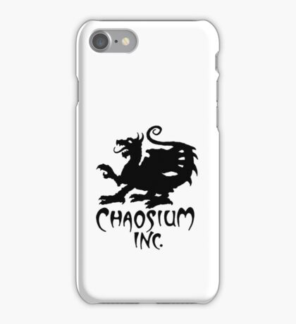 Chaosium Inc. Logo (Black) Official Merchandise iPhone Case/Skin