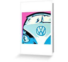 VW Campervan Greeting Card