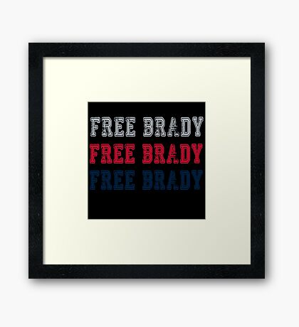 Free Brady! Framed Print
