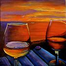 Wine at Sunset by Deb Reynolds
