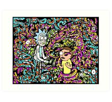 Trippy Rick And Morty Art Print
