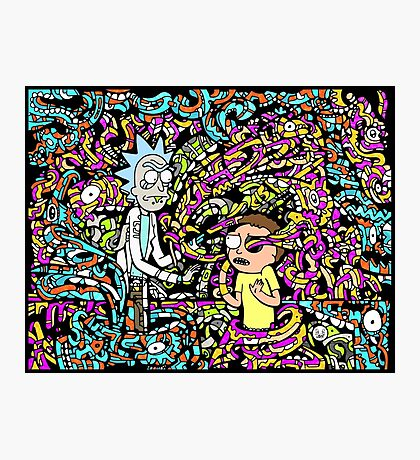 Trippy Rick And Morty Photographic Print