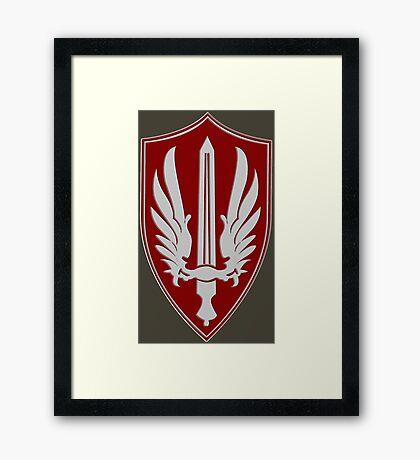 Battlestar Galactica Pegasus insignia Framed Print