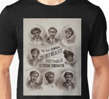 Performing Arts Posters The Old Dominion Colored Vocalists with the Gotthold Octoroon Combination 0522 Unisex T-Shirt