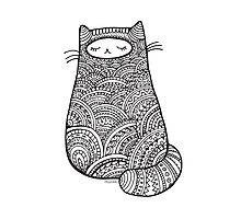 Zendoodle Cat Photographic Print
