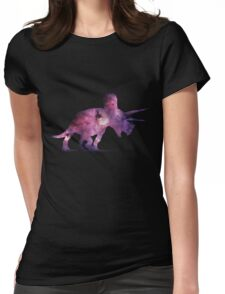Triceratops Nebula Womens Fitted T-Shirt